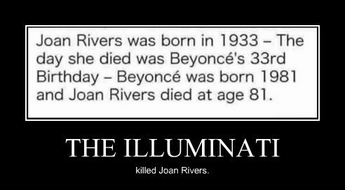 beyoncé,illuminati,funny,joan rivers