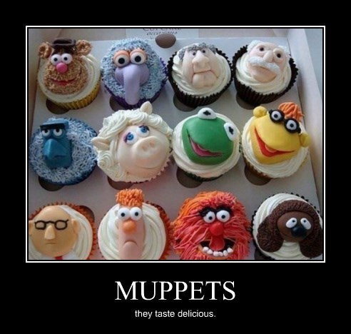 animal cupcakes delicious funny muppets tasty - 8402433792
