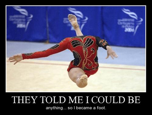 gymnastics funny foot - 8402434816