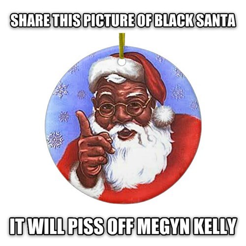 christmas,black santa,fox news,santa,Megyn Kelly,santa claus