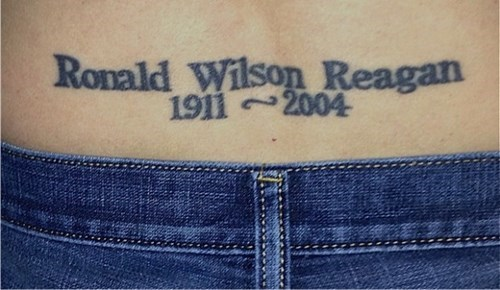 tattoos,tramp stamps,Ronald Reagan