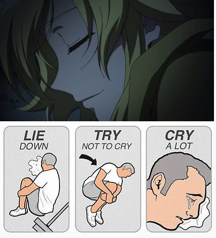 try not to cry,anime,akame ga kill