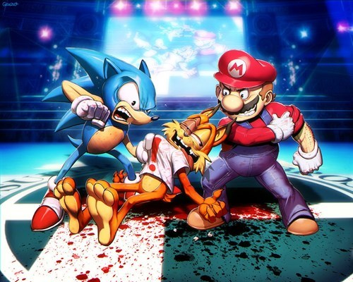 Fan Art,super smash bros,bubsy,mario,sonic