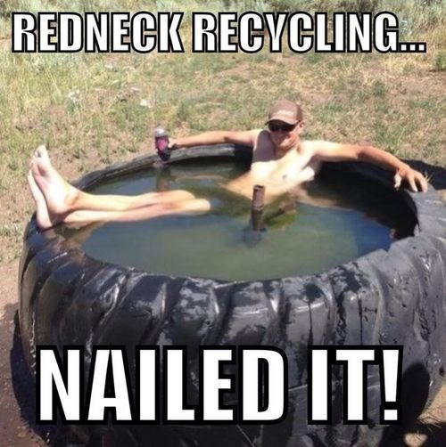 swimming pools,tires,rednecks