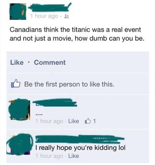 titanic Canada facepalm failbook g rated