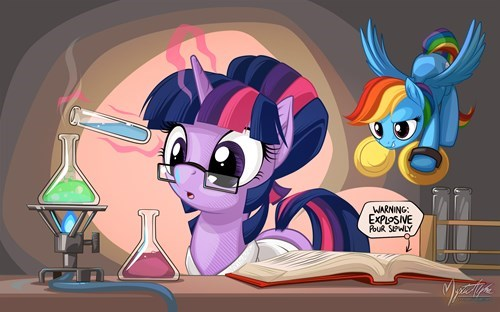 twilight sparkle science pranks rainbow dash - 8402772480