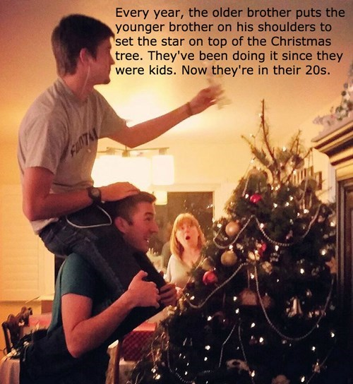 christmas,kids,brother,tradition,christmas tree,siblings,parenting,g rated