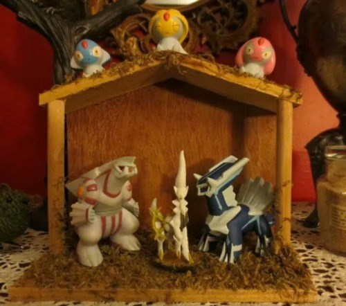Nativity Scene christmas Pokémon legendaries - 8403203840
