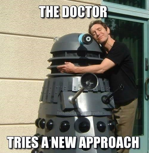 daleks hugs 8th doctor love - 8403366144