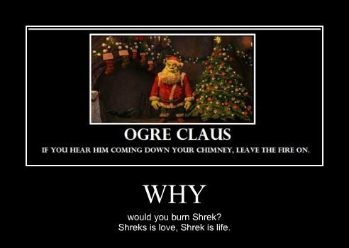 christmas,life,love,santa claus,shrek,funny