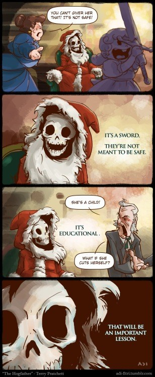 gifts swords santa web comics - 8403449856