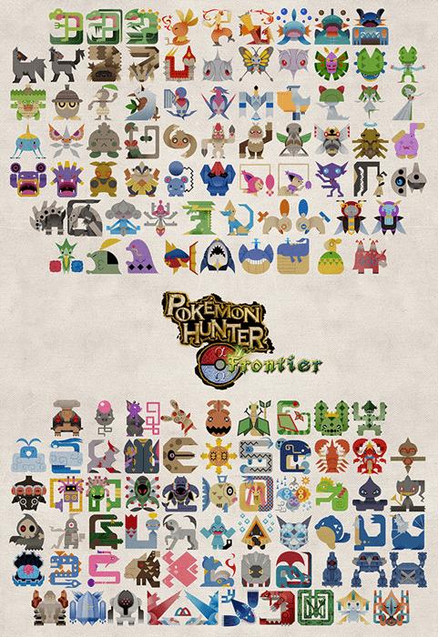 Pokémon Fan Art monster hunter - 8403492608