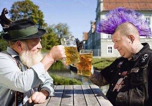 punk beer german shepherd awesome - 8403506688