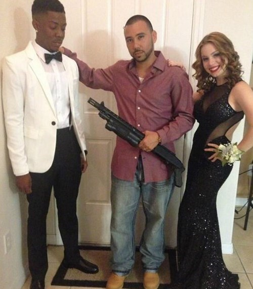 dancing school dad shotgun prom winter funny - 8404207872