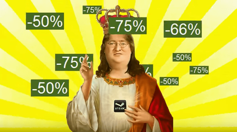 steam valve gabe newell list steam sale Memes - 840453