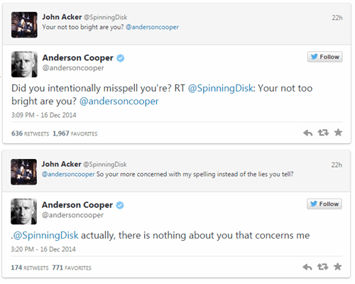 twitter trolling Anderson Cooper burn failbook g rated - 8404589824