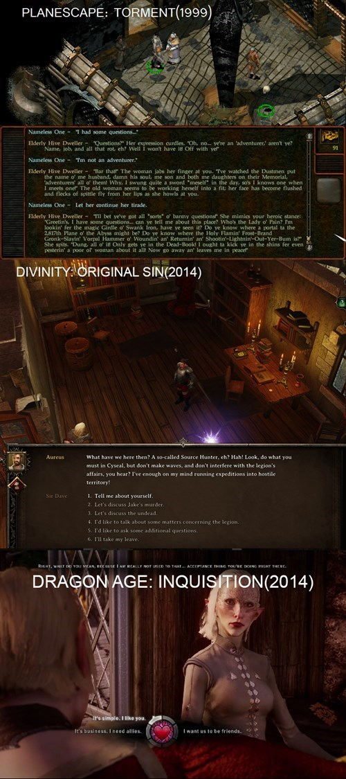 planescape:torment dialogue divinity: original sin video games dragon age inquisition - 8405066496