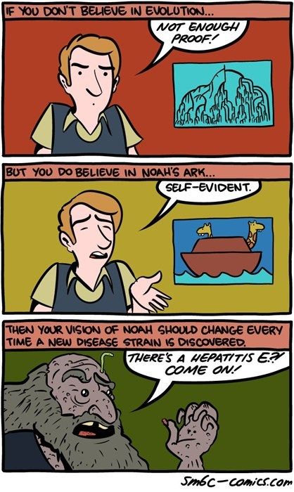 religion evolution sad but true noahs ark science web comics - 8405086464