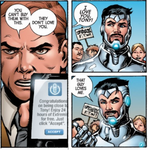 Straight off the Page iron man love - 8405218304