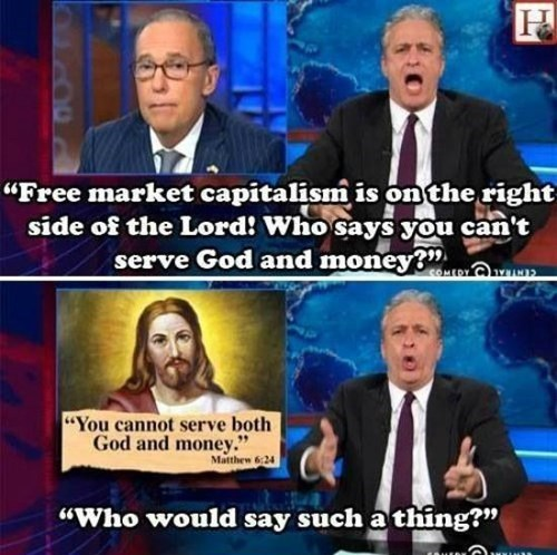 god jesus christ jon stewart the daily show money - 8405268480