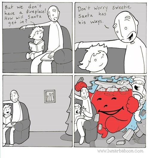 christmas kool-aid man santa santa claus holidays web comics - 8405335040
