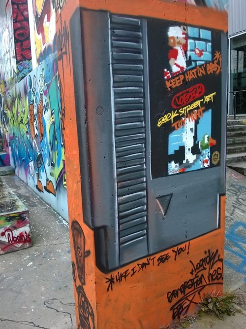 Street Art,graffiti,hacked irl,video games