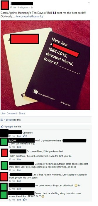 jokes,tarot,parentbook,cards against humanity,failbook