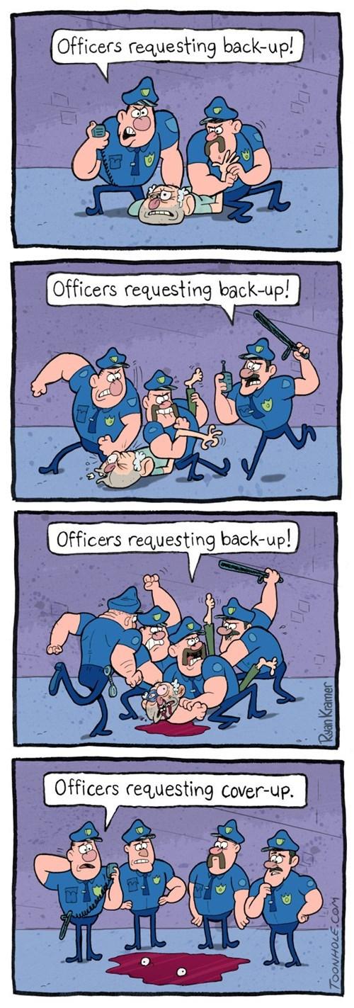 Cops Need a Mop