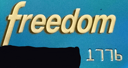 credit cards,freedom,1776