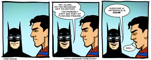 secret identity,batman,superman