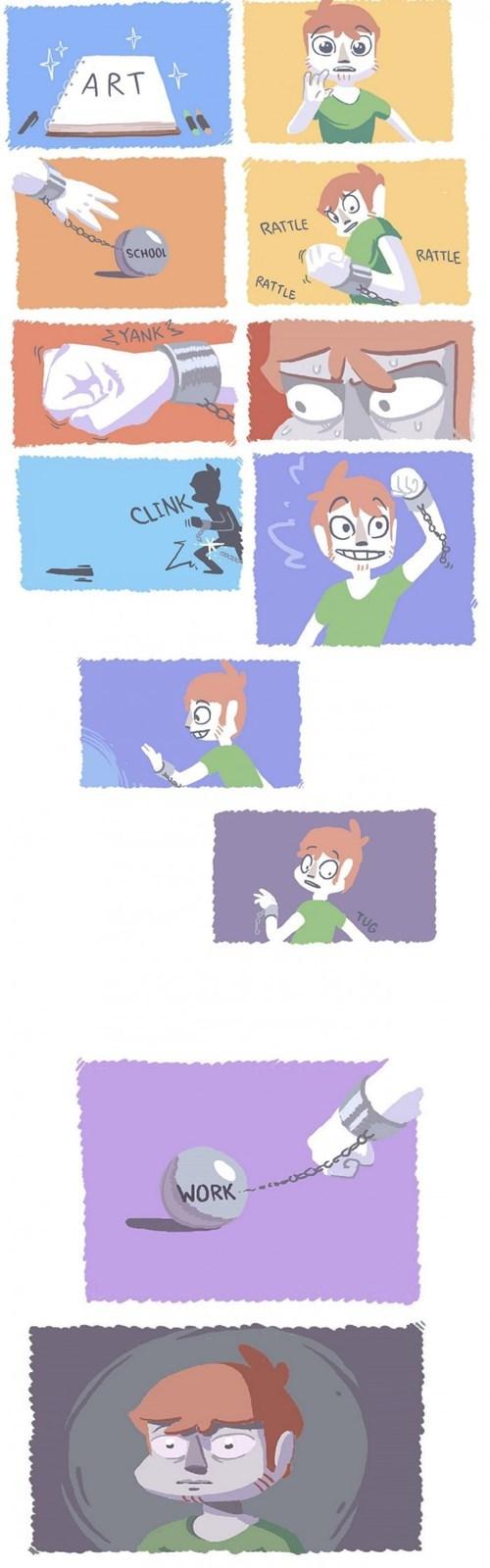 school art web comics