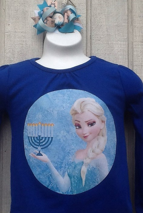 hanukkah disney for sale menorah t shirts cartoons frozen - 8406020864