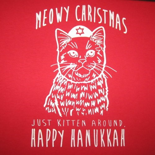 christmas hanukkah puns for sale Cats - 8406023168
