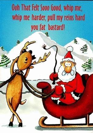 reindeer kinky santa funny - 8406068992