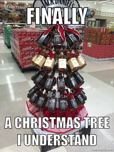 christmas whiskey christmas tree awesome funny after 12