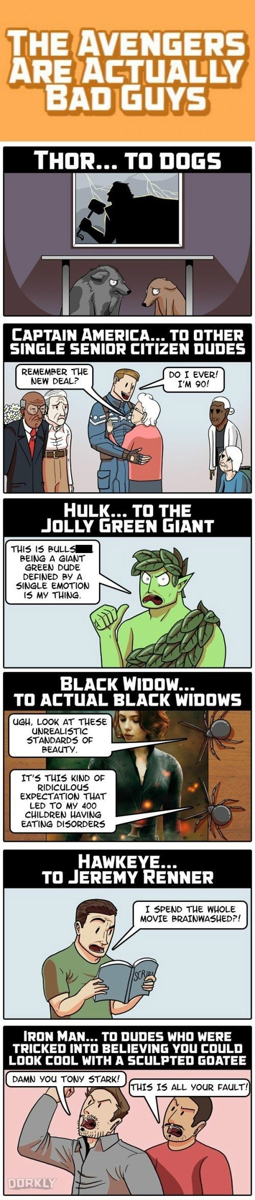 bad guys dorkly The Avengers web comics - 8406100992