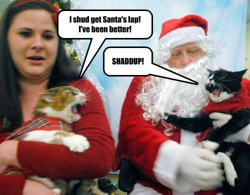 I shud get Santa's lap! I've been better!
