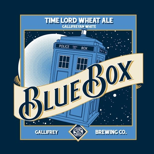 beer tshirts blue moon tardis for sale - 8406240512