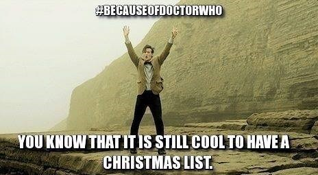christmas,never grow up,11th Doctor,christmas list