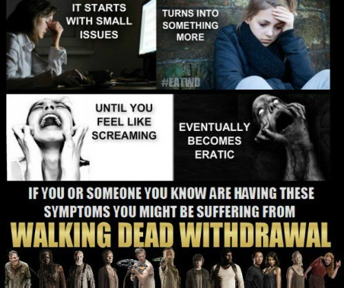 withdrawals mid season break The Walking Dead - 8406295552