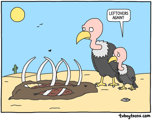 vulture leftovers puns critters food web comics
