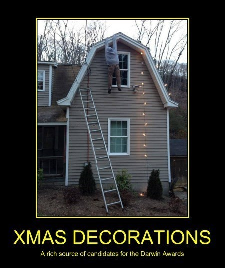darwin awards,christmas,decorations,idiots,funny