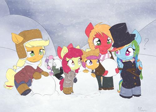 MLP rainbow dash snowman - 8406319616