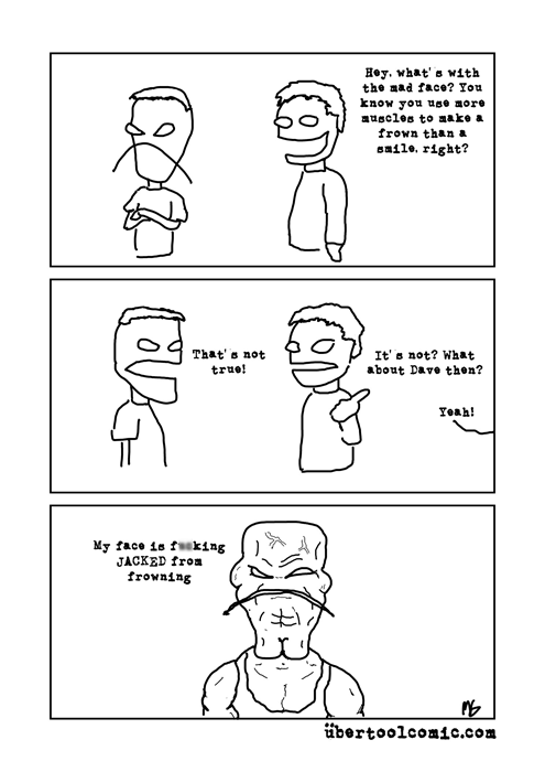 frowning smiles muscles web comics