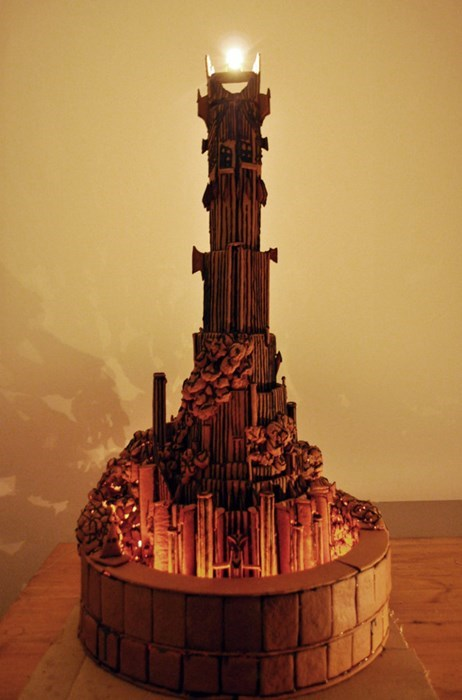 sauron Lord of the Rings design gingerbread