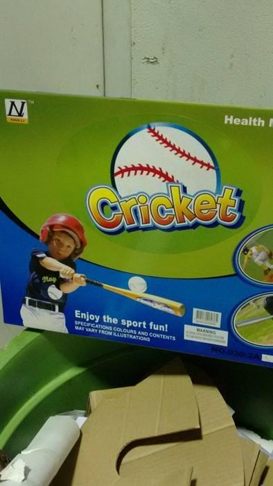 sports whoops cricket baseball