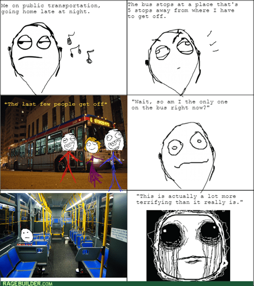 scary,night,alone,bus