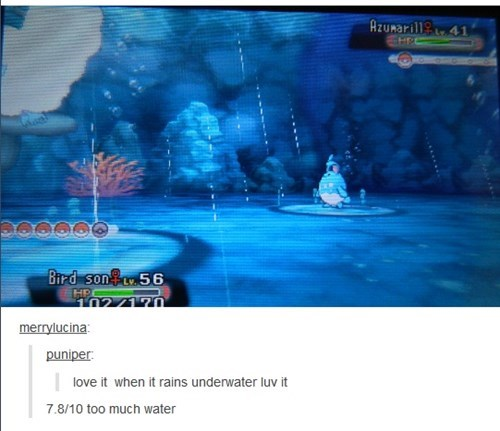 SpongeBob SquarePants Pokémon rain underwater - 8407347200
