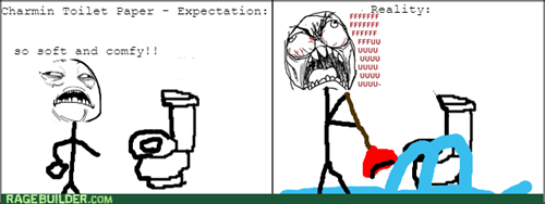 rage expectations vs reality toilet paper bathroom - 8407621120