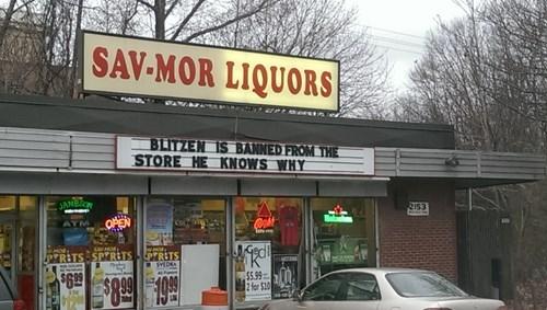 reindeer drunk blitzen funny liquor store - 8407966464
